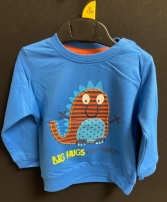 BOYS EX STORE BIG HUGS EMBROIDERED TOP